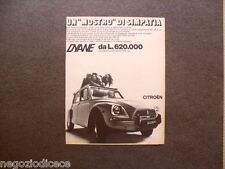 O699 - Advertising Pubblicità -1969- CITROEN DYANE