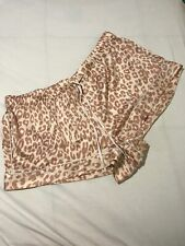 NWT Victorias Secret Leopard Pink Satin Pajama Short Large