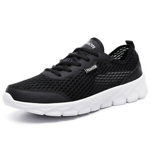 Mens Womens Running Jogging Shoes Sports Athletic Lace Up Mesh Sneakers Tennis