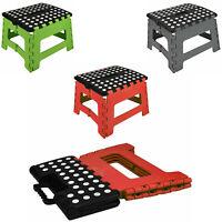 Large Plastic Folding Step Stool Multi Purpose Home Foldable Easy Storage