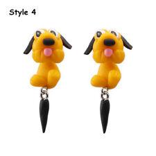 Handmade Polymer Clay Cute Dogs Puppy Earrings Women Animal Ear Stud Jewelry Style 4