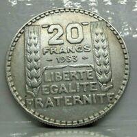 KM# 879 - 20 francs Turin 1933 RC - TTB - Argent - monnaie France - N7291