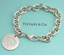 TIFFANY&Co Return to Tiffany Tag Bracelet Sterling Silver 925 Bangle #379
