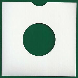 "10 White Cardboard Record Sleeves For 7"" Vinyl Singles"