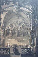 LITHOGRAPHIE originale ENGELMANN Chapelle ST SEPULCRE églide ST JACQUES 1821