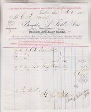 4 1873-75 BILLHEADS - A. FIELD & SONS - TACKS NAILS - TAUNTON MA