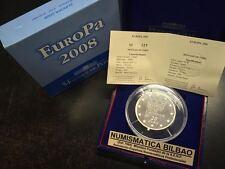 FRANCIA 50 EUROS 2008 EUROPA PLATA 5 Oz Silber Silver FRANKREICH FRANCE