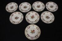 "Set of 8 Vtg Schumann Bavaria SAN LUIS REY Floral & Gold Swag 6.25"" Bread Plates"