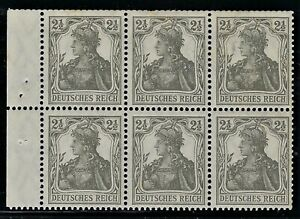 "GERMANY 1916 ""GERMANIA""  Booklet Pane  Broschurenfenster:  H-Blatt #10   Mint/NH"