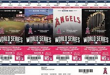 2014 LOS ANGELES ANGELS WORLD SERIES TICKET STRIP PHANTOM SHEET STUB