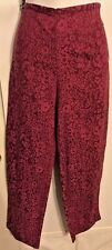 Susan Bristol Size 10 Casual Pant's Cotton Blend Magenta NWT $88
