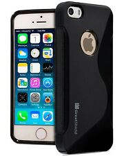 Durable Slim Rubber Cover Shockproof Soft Grip Gel Case Skin for iPhone SE 5S 5