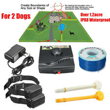 In-ground Underground Electric Pet Dog Fence System 2 Wireless Shock Collars