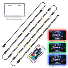 5050 USB LED RGB+White Light Strip with RF Remote Controller TV Background