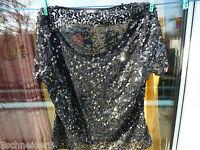 Shirt Pailetten Kupfer Gr. 40  Vera Mont