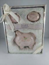 Baby Essentials 3-Piece Ceramic Keepsake Gift Set for a Baby Girl - New