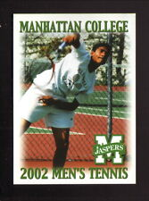 Manhattan Jaspers--2002 Tennis Pocket Schedule