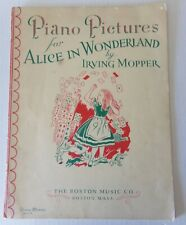 Piano Pictures for Alice in Wonderland Sheet Music 1949 Five Songs Illustrated