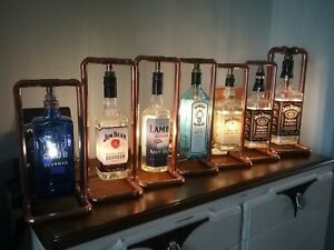 Bombay Gin Steampunk Copper, Bottle Lamp, Table Light, Vintage, Retro, LED 1Ltr