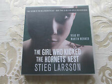 THE GIRL WHO KICKED THE HORNET'S NEST STIEG LARSSON READ BY MARTIN WENNER 6 CD's