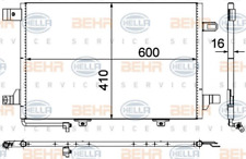 Kondensator, Klimaanlage für Klimaanlage HELLA 8FC 351 301-674
