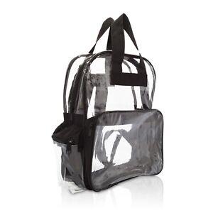TRANSPARENT CLEAR BACKPACK SECURITY SCHOOL BAG PVC TSA COMPLIANT TRAVEL