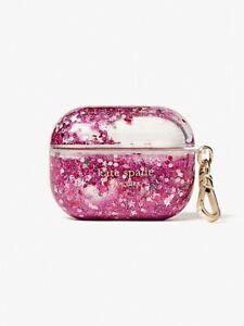 NWT Kate Spade Liquid AirPod Pro Case Clear & Pink Glitter