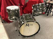 Vintage Rogers Black Diamond Pearl Headliner 20 12 14 drum kit Nice!