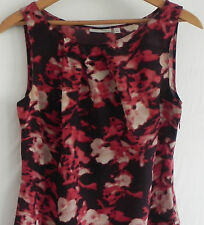 Halogen Top Sleeveless Multi-Color 100% Silk Size S Side Zippered