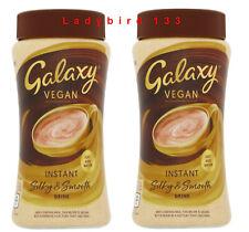2x Galaxy Vegan Hot Chocolate Drink Instant Just Add Water 250g