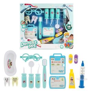 16PCS Medical Kit Dentist set with syringe + drill Pretend Play Toy Set Kids Toy