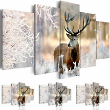 Canvas Print Deer Framed Wall Art Picture Photo Image g-C-0065-b-n