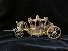Vintage Brass Miniature Horse Drawn Carriage