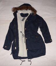 Womens Abercrombie & Fitch Fleece Fur Cozy Parka Hoodie Coats Jacket  M, L, XL,
