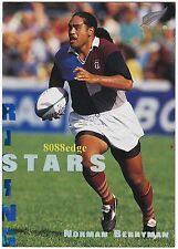 1995 DYNAMIC NEW ZEALAND RUGBY UNION RISING STARS:NORMAN BERRYMAN #RS4 ALL BLACK