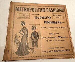 Autumn 1900 METROPOLITAN FASHIONS BUTTERICK PUBLISHING HUGE FORMAT CATALOG