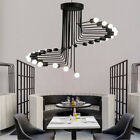 Large Chandelier Lighting Bar Pendant Light Porch LED Lamp Black Ceiling Lights