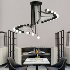 Large Chandelier Lighting Bar Pendant Light Porch LED Lamp Black Ceiling Lights