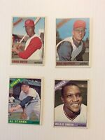lot of 8 1966 Topps Baseball cards in very good condition