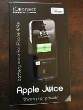 NEW LifeWorks LW-IC2I0B iConnect Apple Juice Battery Case for iPhone 4/4s Black