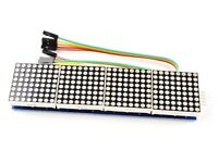 32x8 LED Dot-Matrix (BLUE) MAX7219, 4 Modules 8x8, cascadable, for Arduino etc.