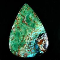 92.50Ctw Natural Chrysocolla (50mmx35mm) pear Cabochon Gemstone