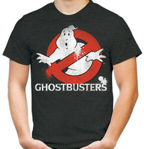 Ghostbusters Standard Dark Gray Adult T-Shirt Spray Paint Style