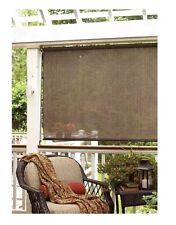 Outdoor Window Shade 72 x 72 Roll Up Blind Sun Block Privacy Patio Curtain Porch