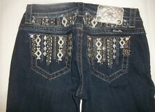 Miss Me Womens Size 26 Dark Blue Mid-Rise Easy Boot Cut Jeans 183