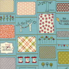 The Treehouse Club Rules in Splash Blue Sweetwater Moda Quilting Cotton Fabric