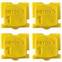 "YELLOW GENUINE XEROX ColorQube 8570 / 8580 INK ""4-PACK"" 108R00928"
