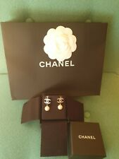 GENUINE CHANEL❤️PEARL EARRINGS, STUNNING! with box, bag, ribbon
