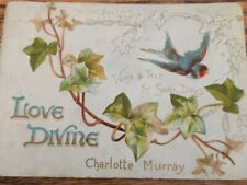More details for victorian raphael tuck embossed booklet 1815 'love divine' b.maguire/c.murray