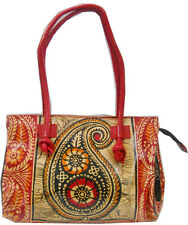 Paisley Batik Design Genuine 100% Pure Leather Shantiniketan Shoulder Bag Indian